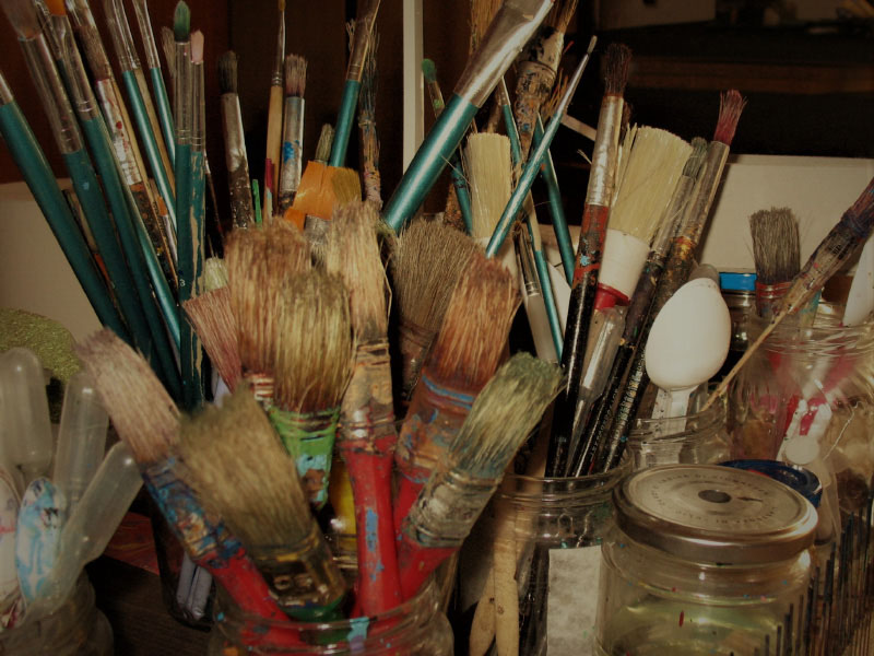 brushes used for paper marbleing