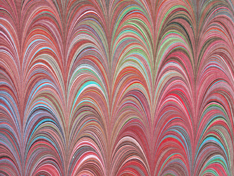 marbled paper - Palm