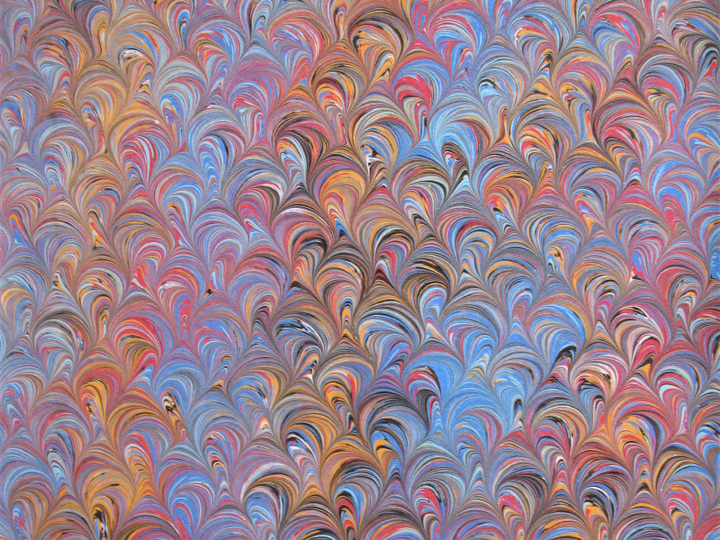Swirls marbled paper design